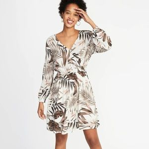 Old Navy Waist-Defined Cross-Front Crepe Dress-NWT